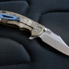 "RHK XM18 3.5"" Limited Containment Bowie Stonewashed Blade Coyote Brown G-10"