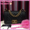 "Chanel Boy Bag Caviar Leather Gold Hardware 8"" **เกรดท๊อปมิลเลอร์** (Hi-End)"