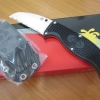 Spyderco FB31SBK Enuff VG10 Serrated Blade, Black FRN Handles