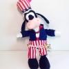 Disney Mickey Mouse Friends goofy plush doll ตุ๊กตากรูฟฟี้ ชุดลายธงชาติสหรัฐฯ