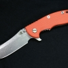 "RHK XM18 3.5"" Skinner Stonewashed Blade Orange G-10"