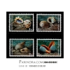 แสตมป์ความร่วมมือไทย-สิงคโปร์ ชุดเปลือกหอยทะล ปี 2540 (ยังไม่ใช้)