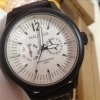 :: Nautica Classic Watch .. หน้าครีมสายหนังดำ .. สวยเรียบหรู..::