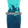 พร้อมส่ง ชุดราตรีสั้น แขนกุด Designer dress ผ้าซาตินสีเขียวน้ำทะเล Two-tone (เหลือเฉพาะไซส์ XXL )