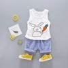 ชุดเซตเสื้อกล้ามลายกระต่ายถือแครอท [size 6m-1y-3y]