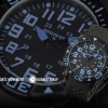 INFANTRY Blue MEN'S Original Sport Military 24 H Quartz Wrist Watch Outdoor Silicone Band