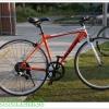 จักรยานเสือหมอบแฮนด์ตรง JKDHB เฟรมอลูซ่อนสาย 8 สปีด Microshift