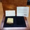 """ไฟแช็ค Zippo แท้ ฺเคสผลิตจากทองคำแท้ 18K """"ZIPPO #195 18K SOLID GOLD LIGHTER IN CHERRYWOOD BOX"""" แท้นำเข้า 100%"""