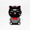 เคสซิลิโคน 3Dแมวดำใส่เสื้อขวาง ซัมซุง เจ 2Prime