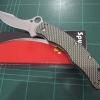 "Spyderco C146CFP Szabo Folding Knife 4.6"" S30V Plain Blade, Carbon Fiber Handles"