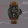 INFANTRY Brown Leather  Black Dial ... +++Best Selling+++