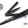 มีดบาลีซอง Balisong มีดควง มีดปีกผีเสื้อ สีดำ ขนาด 8.5 นิ้ว BBL000