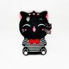 เคสซิลิโคน 3Dแมวดำใส่เสื้อขวาง OPPO A37