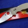 Spyderco Manix2 CPM-M4 Blade Tan Handle C101GTNM4P2