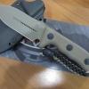 "Microtech Crosshair Knife Tan Fixed Double Edge Blade (5"" Tan Plain) 101-1TA"