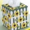ชุดปักแผ่นเฟรมกล่องทิชชูลายสวนดอกทานตะวัน