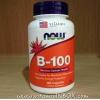 # อาหารเสริมช่วยความจำ # Now Foods, B-100, 100 Capsules