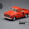 โมเดลรถเหล็กรถจำลอง CHEVROLET Chevy Stepside Pick-up 1955 สีส้ม