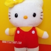 Hello Kitty red suit ตุ๊กตาคิตตี้ชุดเอี๊ยมแดง 14 cm.