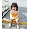 ชุดเดรสสายเดี่ยวสีเหลือง แพ็ค 5 ชุด [size 2y-3y-4y-5y-6y]