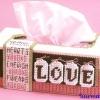 ชุดปักแผ่นเฟรมกล่องทิชชูทรงยาวลาย Love