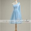 พร้อมเช่า ชุดราตรีสั้น สีฟ้าอ่อน ชุดเพื่อนเจ้าสาว Blue-001D