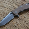 "RHK XM18 3.5"" Spanto Stonewashed Blade Coyote Brown G-10"