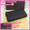 Louis Vuitton Damier Graphite Zippy Compact Wallet กระเป๋าสตางค์หลุยส์ ใบยาว ซิบรอบ แบบออกาไนซ์ **เกรดAAA+**