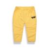 กางเกงเด็กสีเหลืองปักค้างคาว แพ็ค 2 ชิ้น [size 2y-7y]