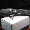 "Microtech DOC Flipper Knife Aluminum Folder (3.75"" Black Serr) 153-2"