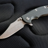 "RHK XM18 3.5"" Limited Containment Bowie Stonewashed Blade Green/Black G-10"