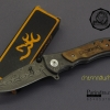 มีดพับ Browning Damascus Design ลายดามัสกัส (OEM)