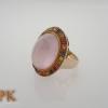 แหวนโรสควอตซ์ (Silver ring rose quartz)