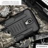 Case Samsung Galaxy S4 i9500 เคสกันกระแทก สวยๆ ดุๆ เท่ๆ แนวถึกๆ อึดๆ แนวทหาร เดินป่า ผจญภัย adventure เคสแยกประกอบ 3 ชิ้น ชั้นในเป็นยางซิลิโคนกันกระแทก ครอบด้วยแผ่นพลาสติกอีก1 ชั้น กาง-หุบขาตั้งได้ มีปลอกฝาหน้าแบบสวมสไลด์ ใช้หนีบเข็มขัดเพื่อพกพาได้