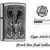 """ไฟแช็ค Zippo แท้หัวกวาง Hirsh """"Zippo 2004736 Hirsch Deer Head Emblem """" # 2004736 แท้นำเข้า 100%"""