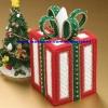 ชุดปักแผ่นเฟรมกล่องทิชชูลายของขวัญคริสต์มาส