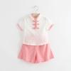 ชุดเซตเสื้อคอจีนกางเกงสีชมพู แพ็ค 5 ชุด [size 6m-1y-3y]