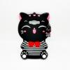 เคสซิลิโคน 3Dแมวดำใส่เสื้อขวาง ซัมซุง เจ 7