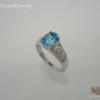 แหวนเงินบลูโทปาซ(Silver ring blue topaz)