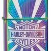"""ไฟแช็ค Zippo แท้ Harley สีเหลือบรุ้งสเปกตรัม """" Zippo 28815 Harley-Davidson Sunburst Spectrum Finish """" แท้นำเข้า 100%"""