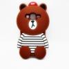 เคสซิลิโคน3D หมีบราวน์ ซัมซุง เจ 7
