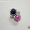 แหวนเงินทับทิม ไพลิน(Silver ring ruby&sapphire)