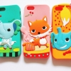 เคสซิลิโคนการ์ตูน 3d Animal ไอโฟน 5/5s
