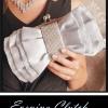 พร้อมส่ง Evening Clutch กระเป๋าออกงาน สีเงิน เนื้อผ้าซาติน-ผ้าแก้ว รูปโบว์ แต่งแผงคริสตัลหรู (พร้อมสายโซ่สั้นและยาว)