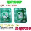 TQFP (32,44,48,64,84,100) adapter to DIP