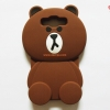 เคสซิลิโคนเคสหมีบราวน์ 3D Samsung A7