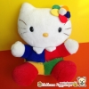 Hello kitty fancy plush doll ตุ๊กตาเฮลโหลคิตตี้ชุดแฟนซี ขนปุยแน่น มาพร้อมกระเป๋าซิปสุดน่ารัก | 28 cm.
