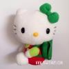 ตุ๊กตาคิตตี้คลาสสิก นั่งหันข้างสะพายเป้สีเขียว Sanrio Classic Hello Kitty wear backpack