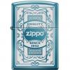 """ไฟแช็ค Zippo แท้ 6341 """"Zippo 6341, Quality Since 1932, Sapphire Blue"""" แท้นำเข้า 100%"""