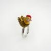 แหวนรูปไก่ลงยา (Chicken Silver Ring)